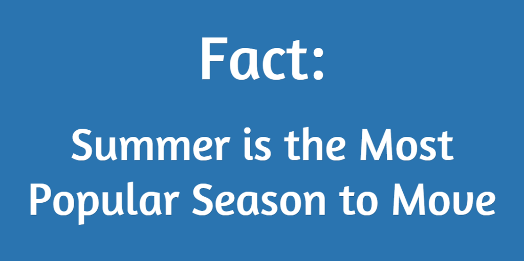 Moving Fact - Summer is the Busiest Time of Year to Move
