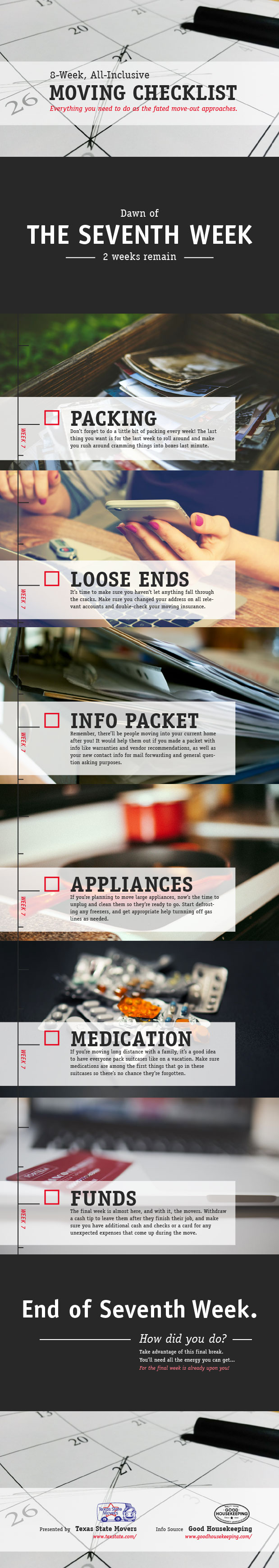 Moving Checklist - Part 7 of 8 Infographic